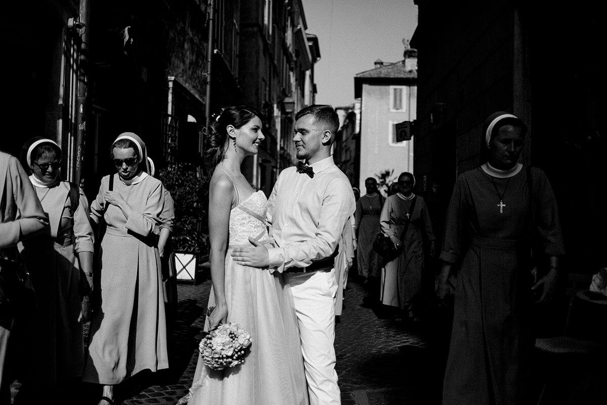 Свадьба Анны и Евгения в Риме. Когда брак заключается на небесах