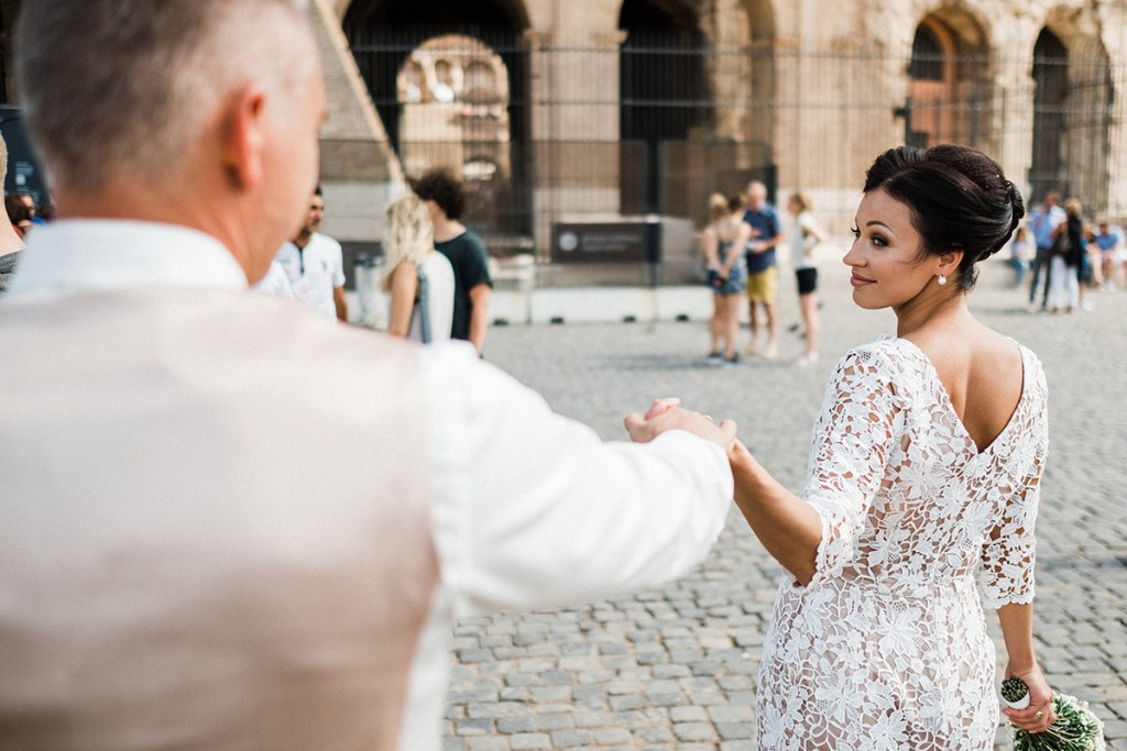 Свадьба с видом на Колизей