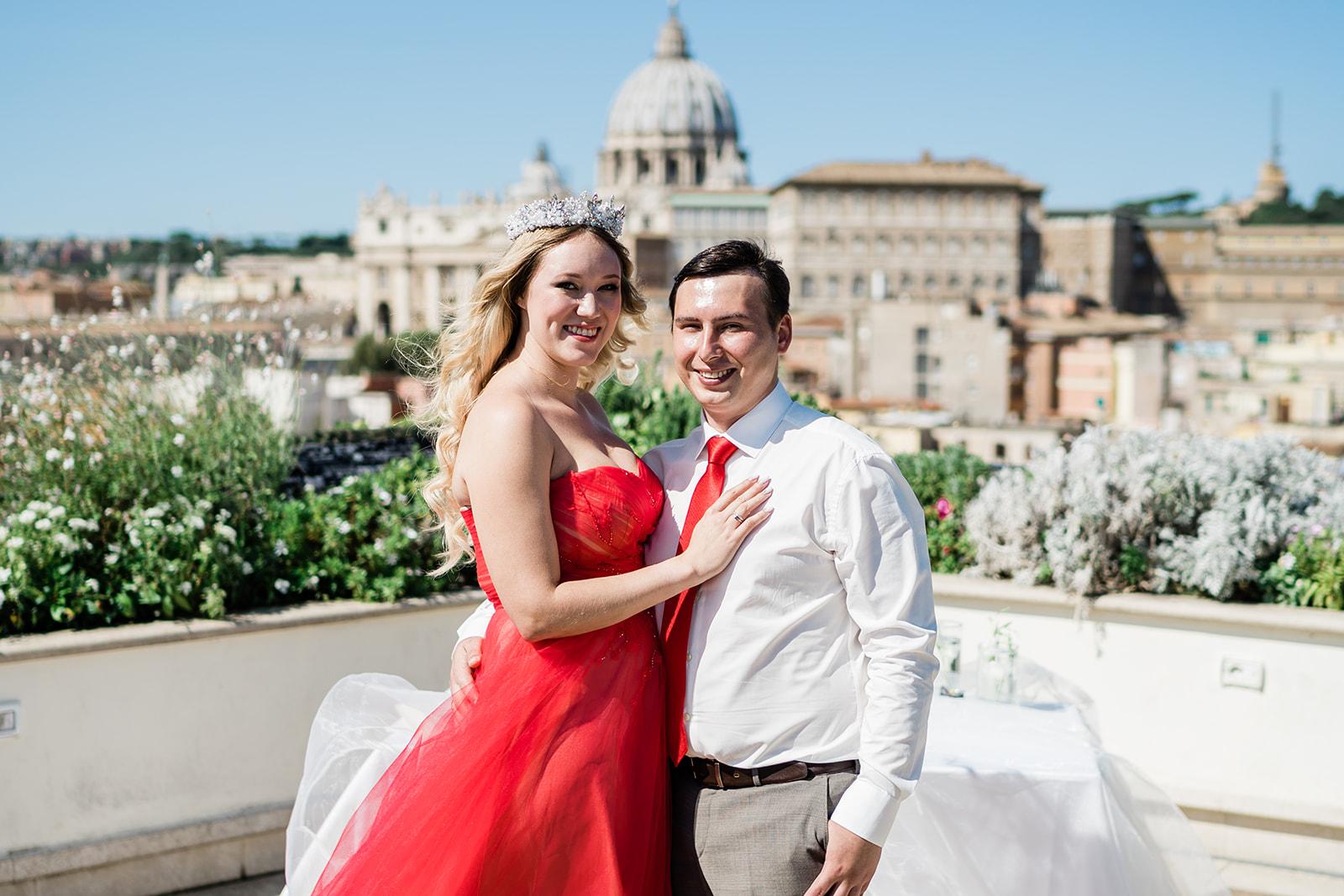 Свадьба Ярославны и Николая, символическая церемония в Риме