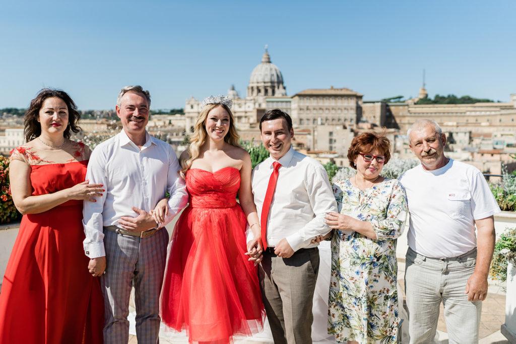 Символическая свадьба Ярославны и Николая в Риме