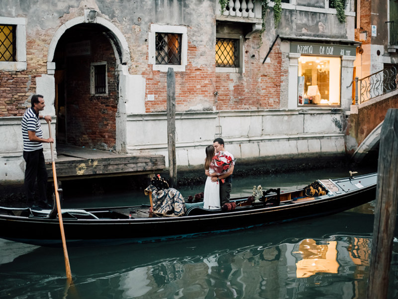 Предложение руки и сердца в Венеции