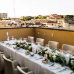 Свадьба в Италии с гостями и банкетом
