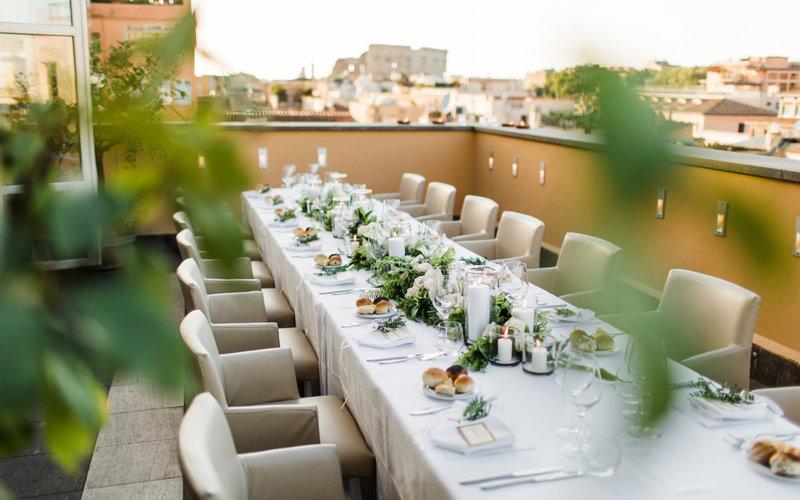 свадьбы в Италии с 15 гостями и банкетом на эксклюзивной площадке с видом на Колизей