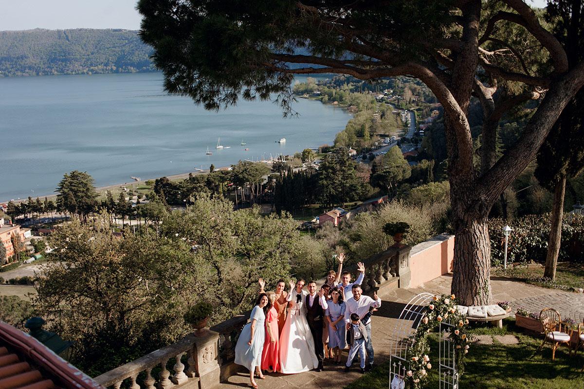 Свадьба Анны и Рамина. Праздник с самыми близкими на озере Альбано