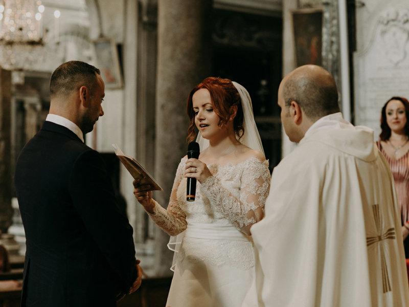 Венчание Александры и Винчента в Риме