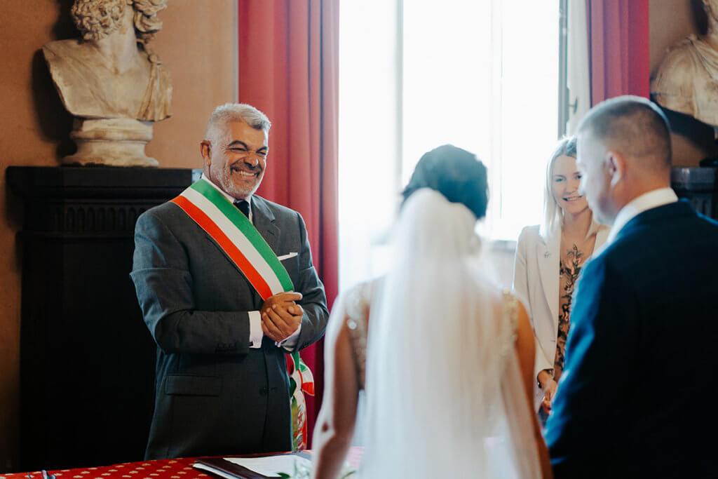 Официальная церемония заключения брака в Италии Алины и Андрея