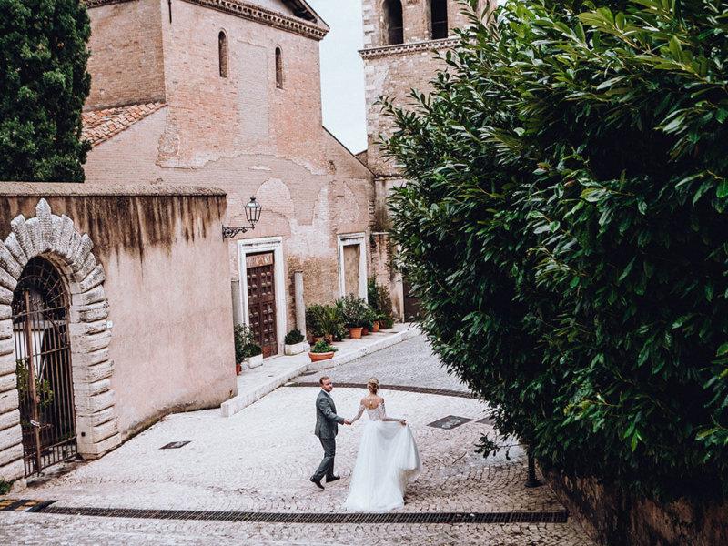 Свадьба Анны и Виталия в Риме и Тиволи
