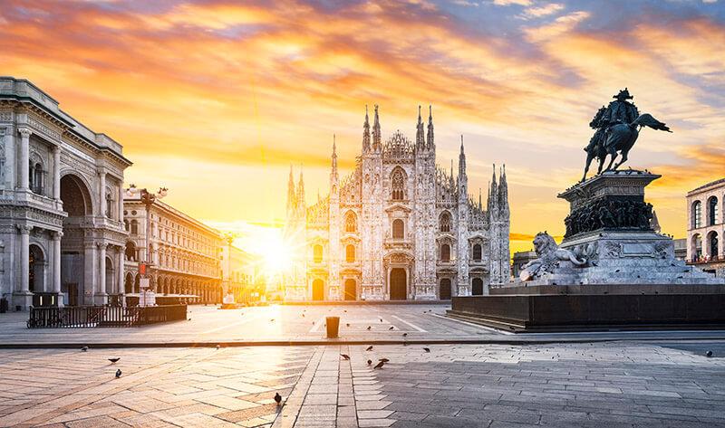 Предложение руки и сердца в Милане
